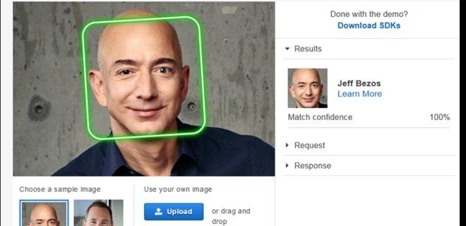 Amazon запретила полиции использовать ее технологию распознавания лиц