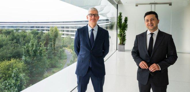 Siri на украинском и новый датацентр: о чем говорили Зеленский и глава Apple Кук  - Фото